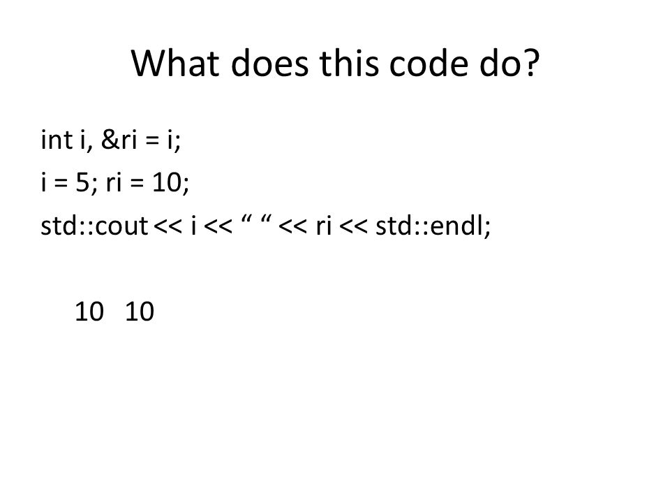 What does this code do.