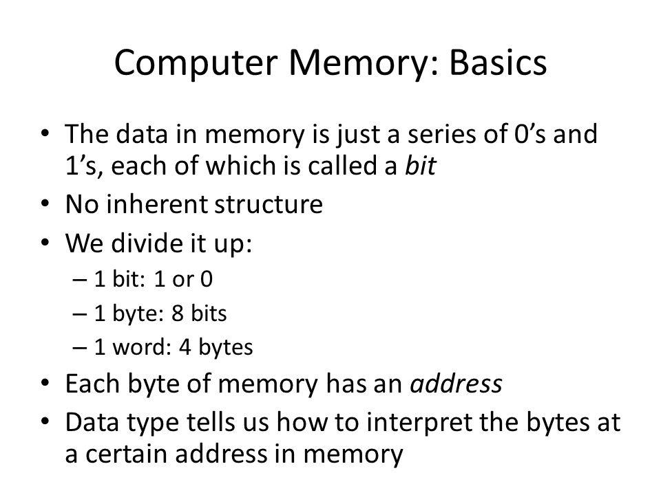 Computer Memory: Basics