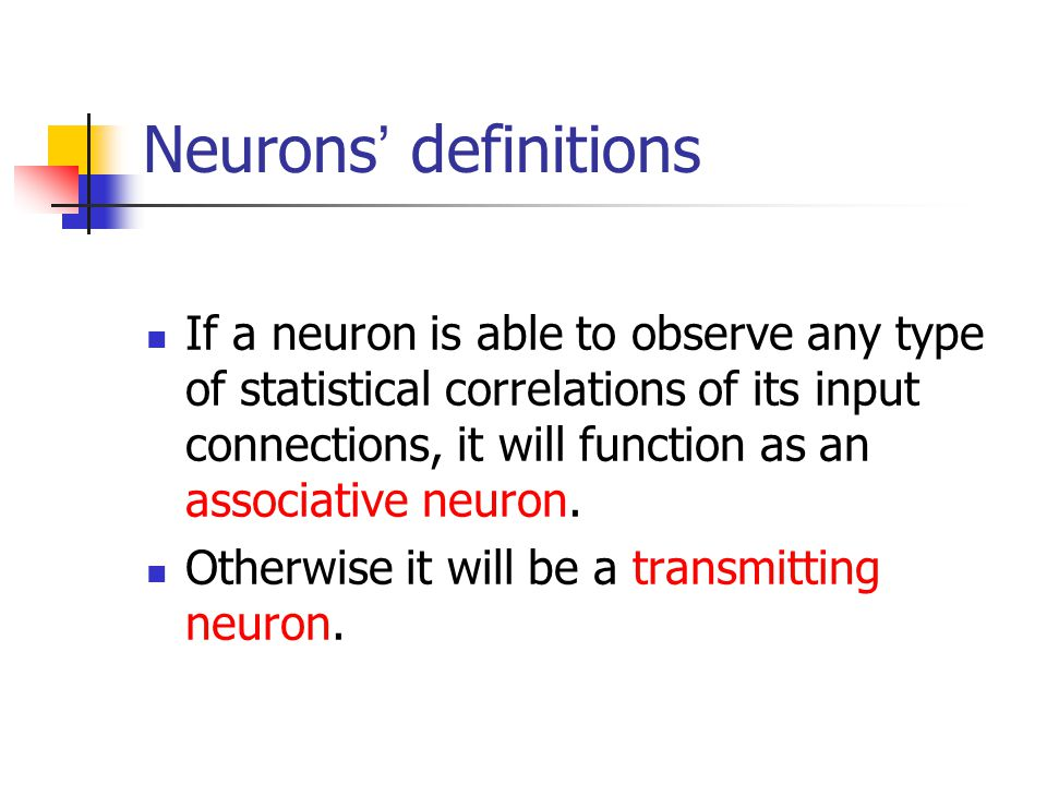Neurons' definitions