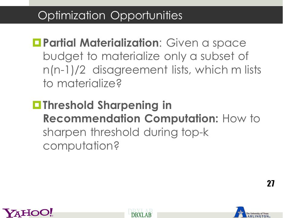Optimization Opportunities