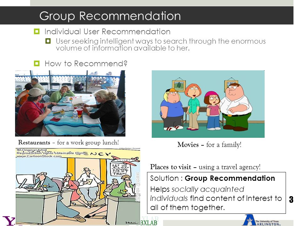 Group Recommendation 3 Individual User Recommendation