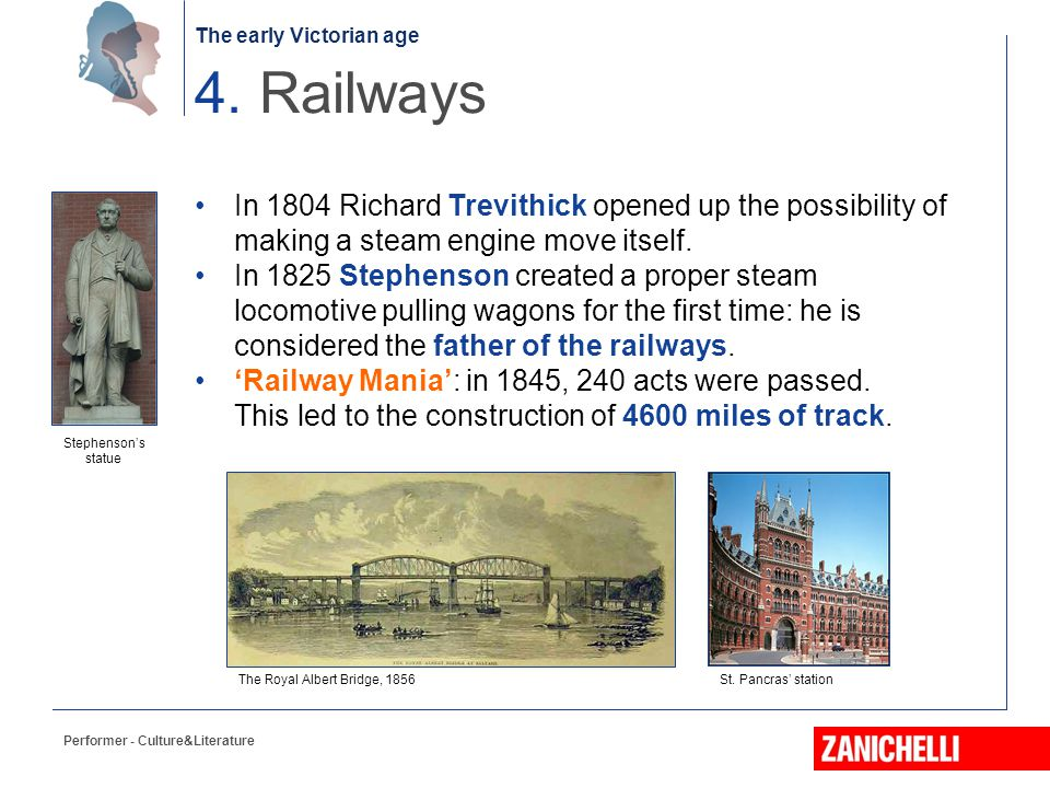 4. Railways In 1804 Richard Trevithick opened up the possibility of making a steam engine move itself.