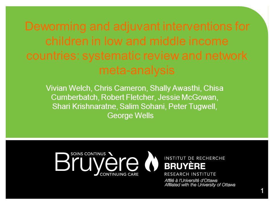 Deworming and adjuvant interventions for children in low and middle income countries: systematic review and network meta-analysis
