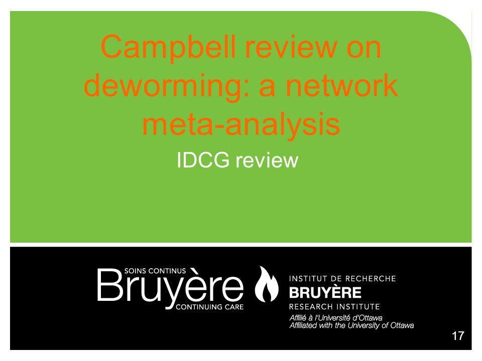 Campbell review on deworming: a network meta-analysis