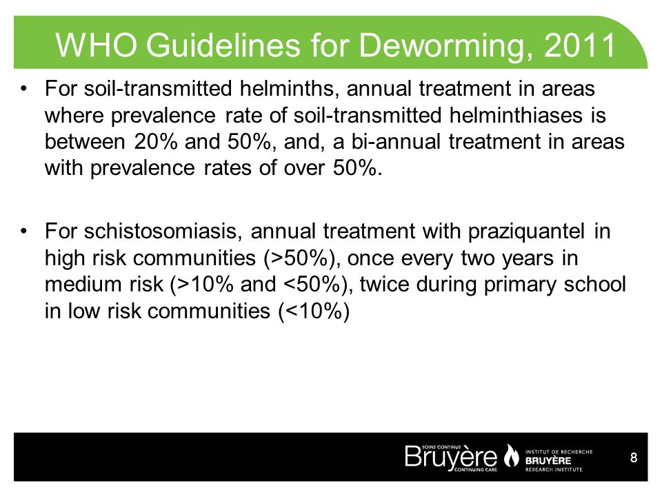 WHO Guidelines for Deworming, 2011