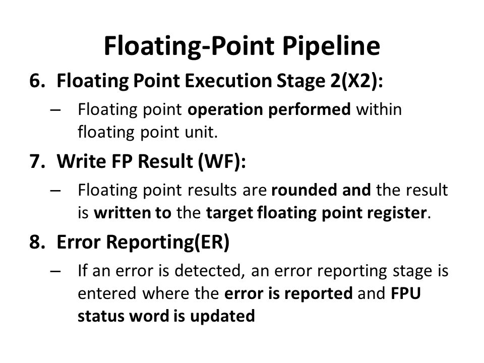 Floating-Point Pipeline