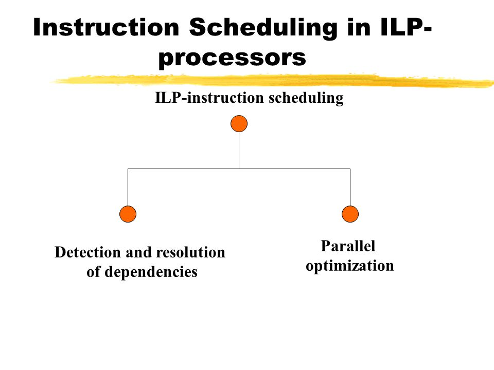 Instruction Scheduling in ILP-processors
