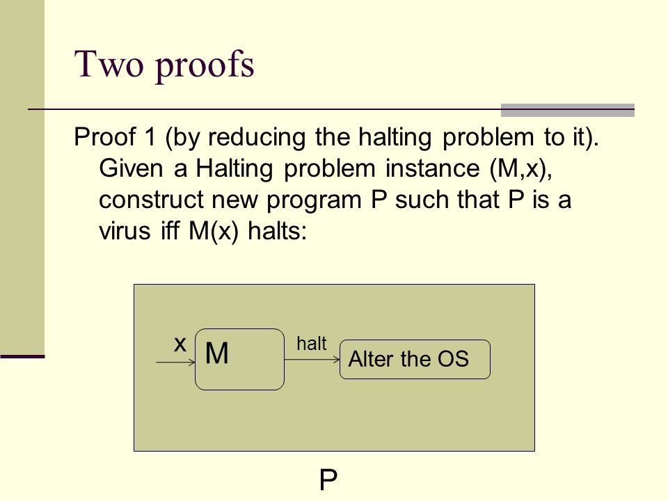 Two proofs