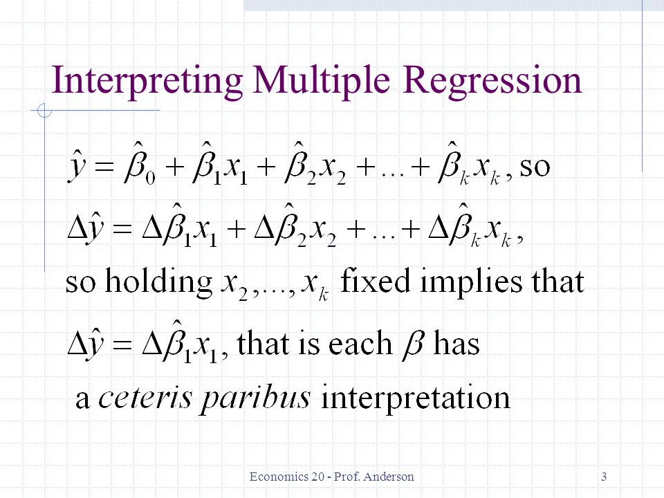Interpreting Multiple Regression