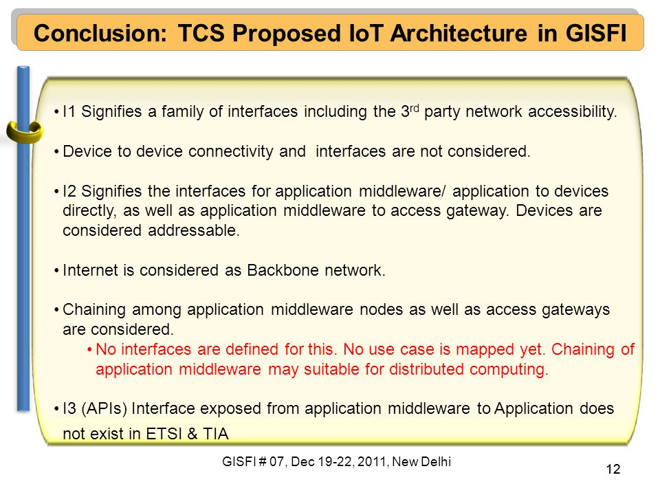 Conclusion: TCS Proposed IoT Architecture in GISFI