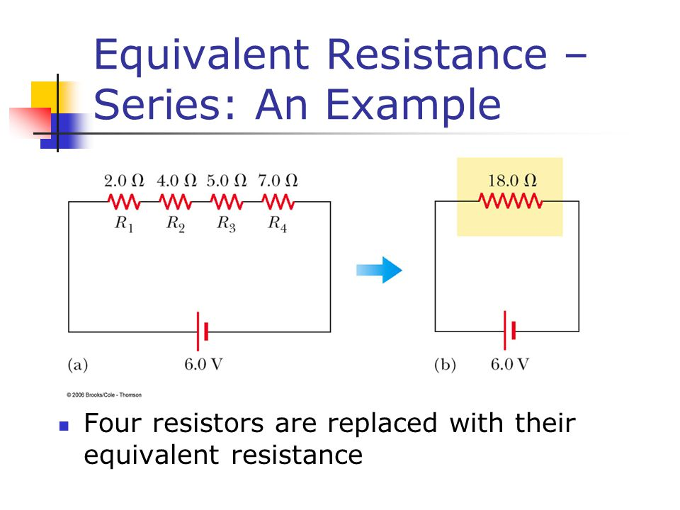 Equivalent Resistance – Series: An Example