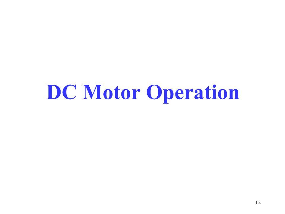 DC Motor Operation