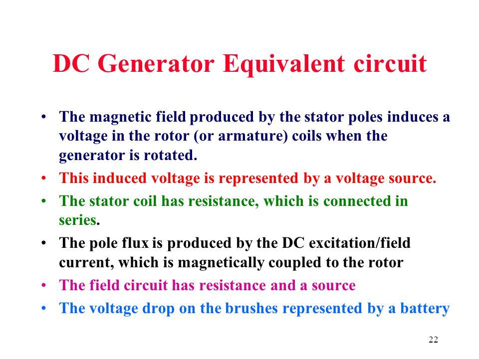 DC Generator Equivalent circuit