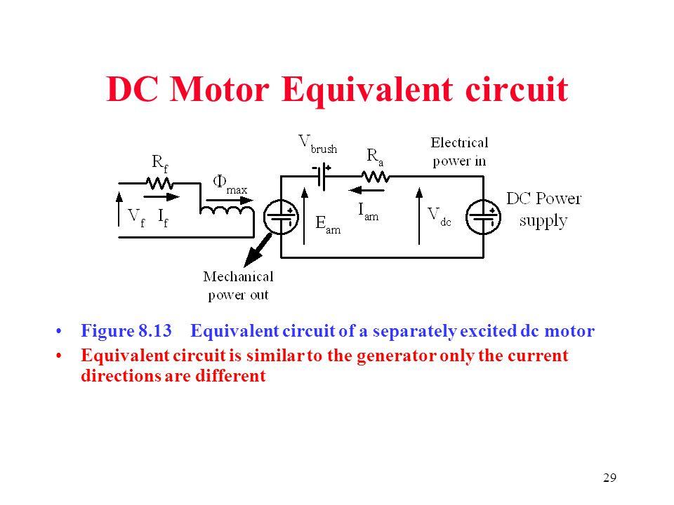 DC Motor Equivalent circuit