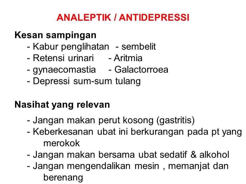 ANALEPTIK / ANTIDEPRESSI