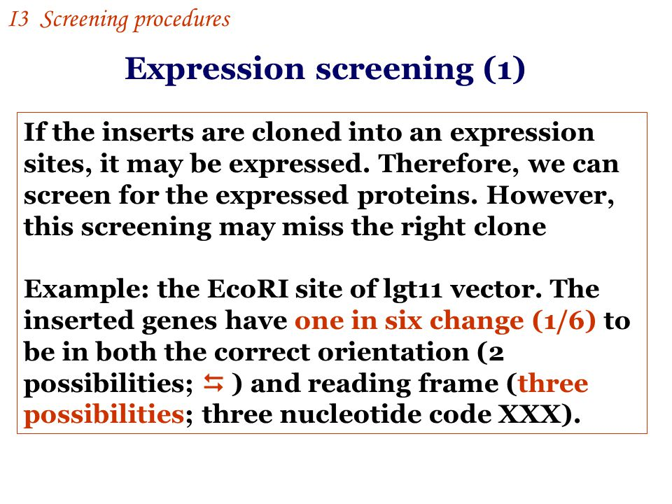 Expression screening (1)