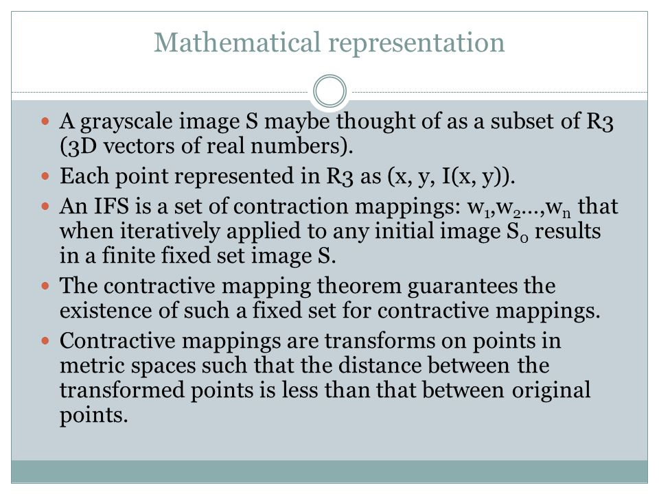 Mathematical representation