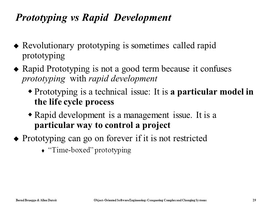 Prototyping vs Rapid Development