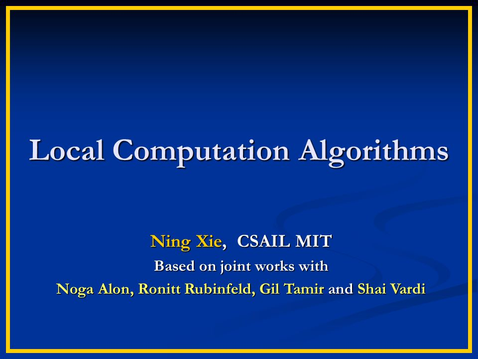 Local Computation Algorithms