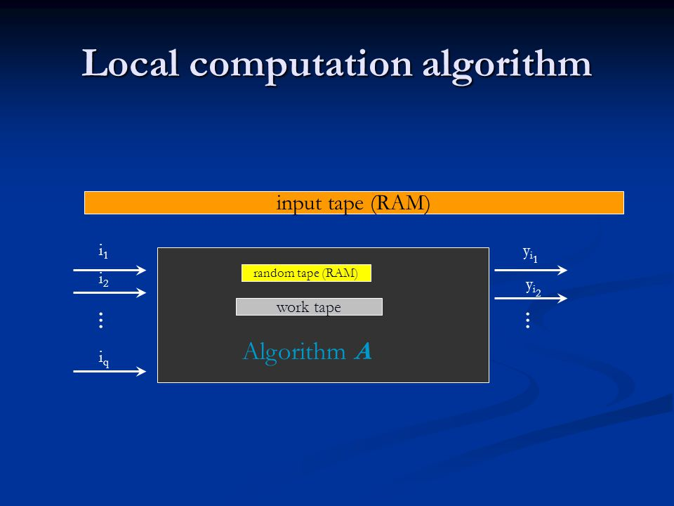 Local computation algorithm