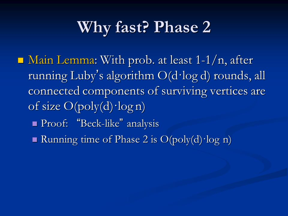 Why fast Phase 2