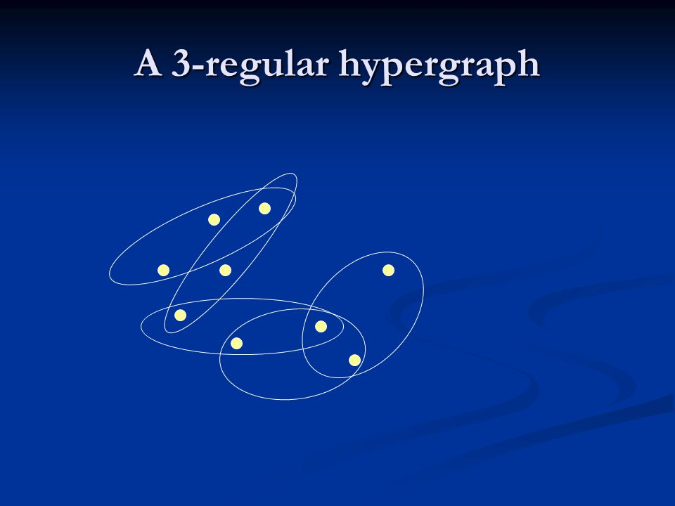 A 3-regular hypergraph