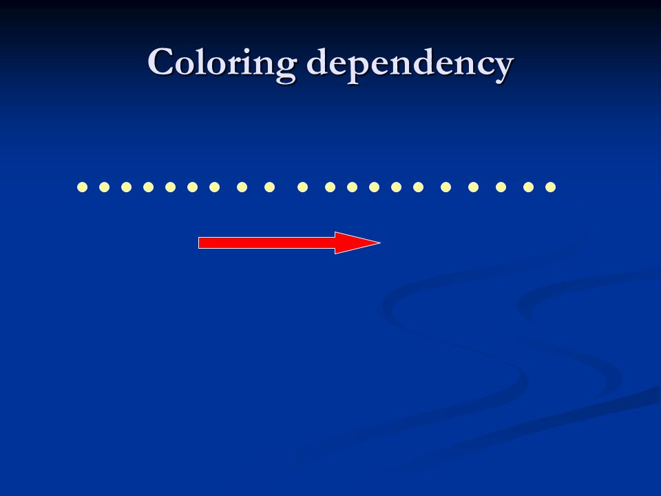 Coloring dependency
