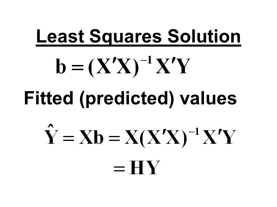 Least Squares Solution