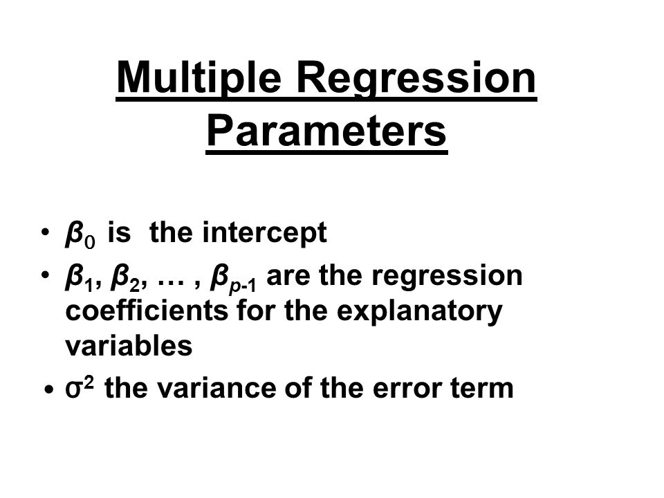 Multiple Regression Parameters