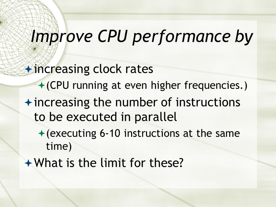 Improve CPU performance by