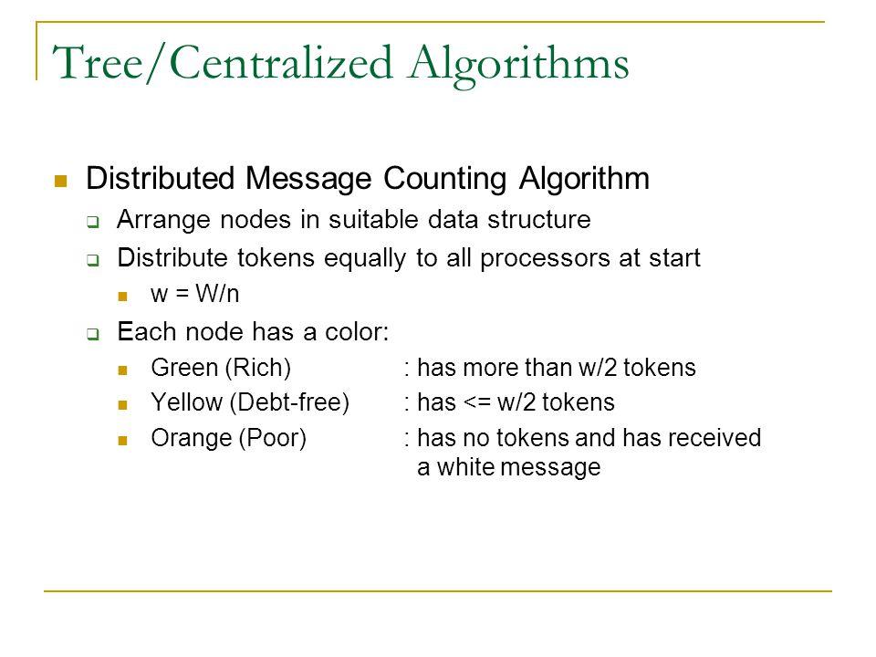 Tree/Centralized Algorithms