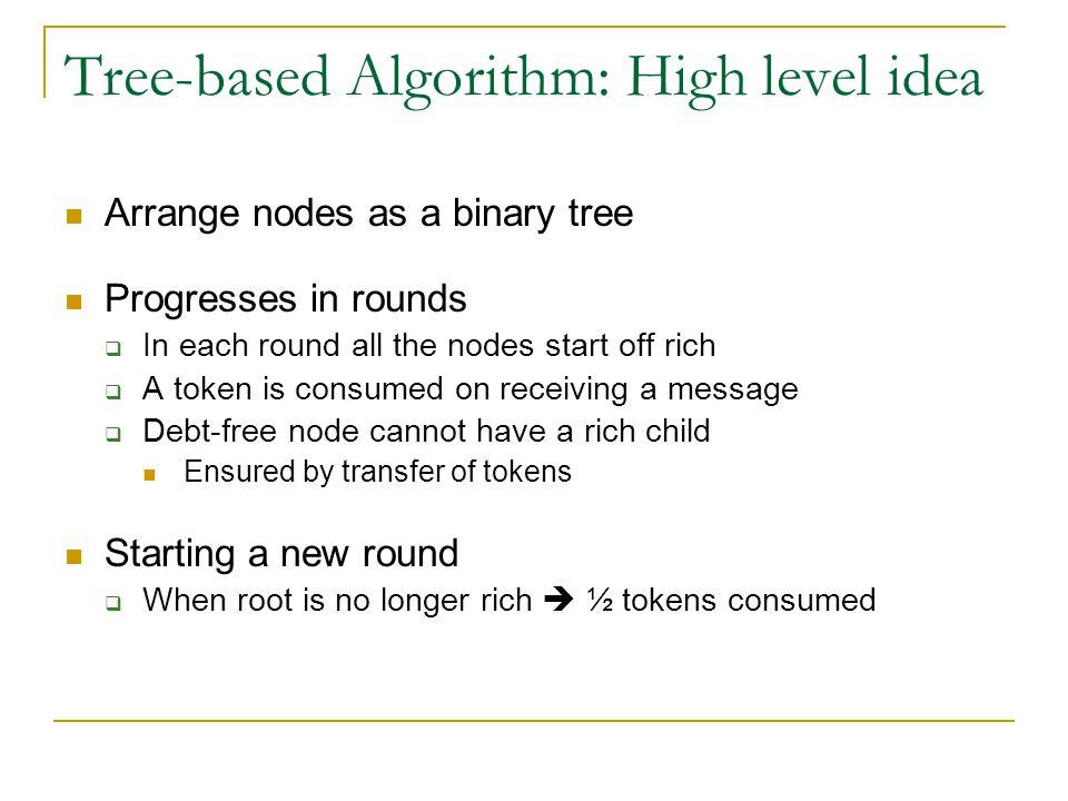 Tree-based Algorithm: High level idea