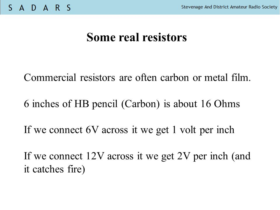 Some real resistors