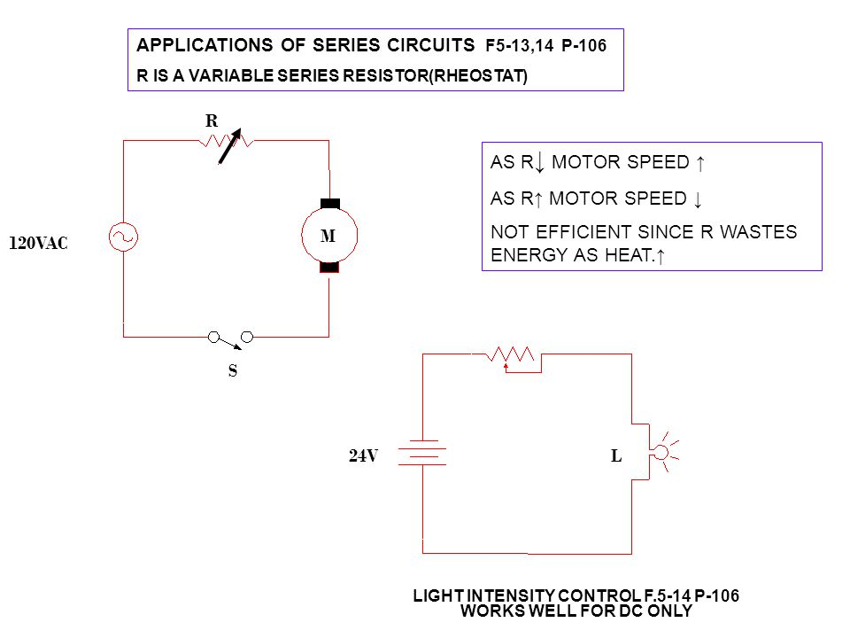 APPLICATIONS OF SERIES CIRCUITS F5-13,14 P-106