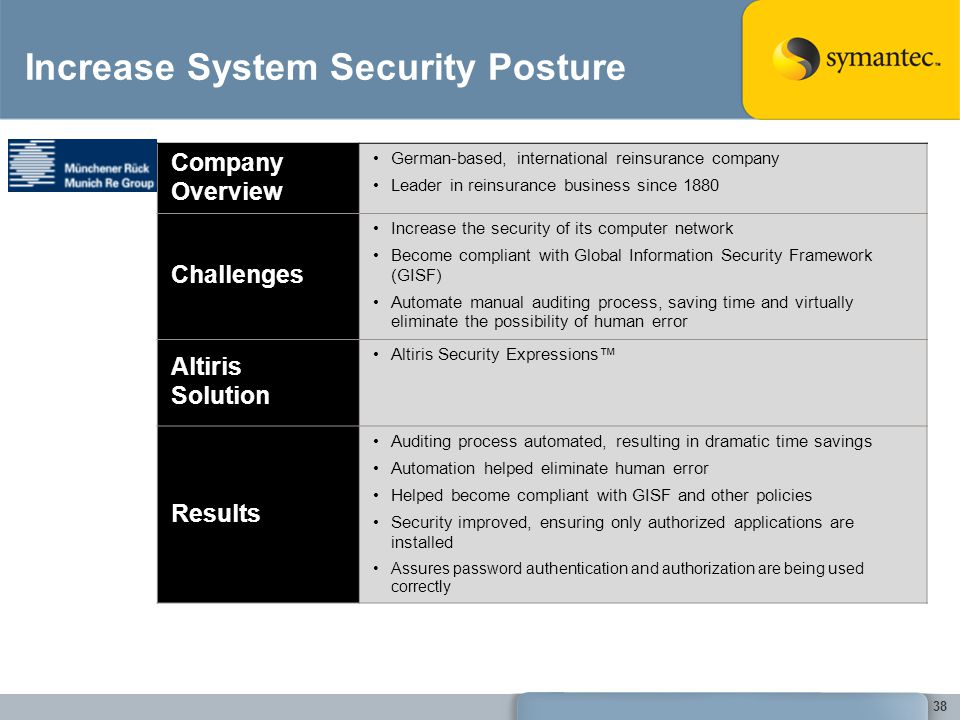 Increase System Security Posture