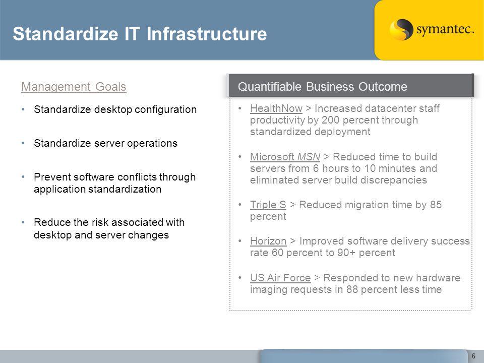 Standardize IT Infrastructure