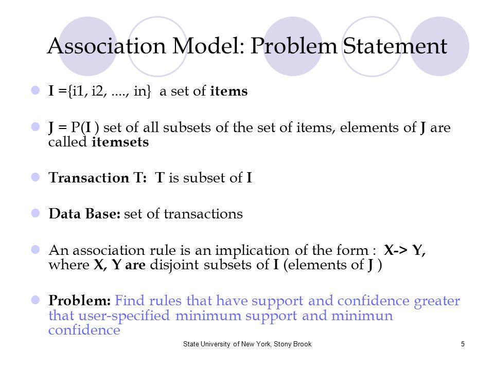 Association Model: Problem Statement