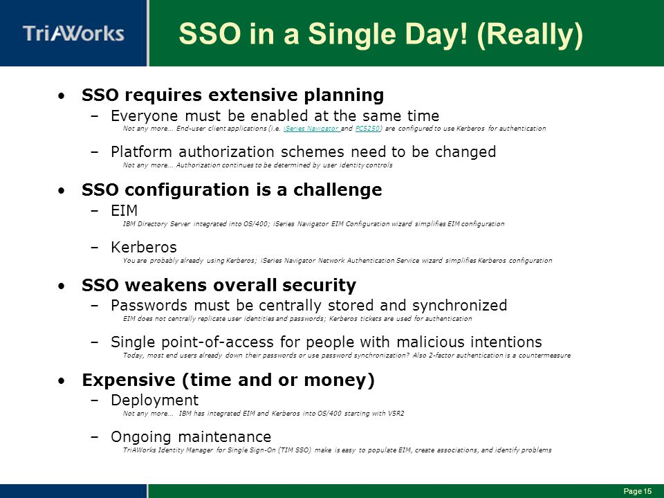 SSO in a Single Day! (Really)