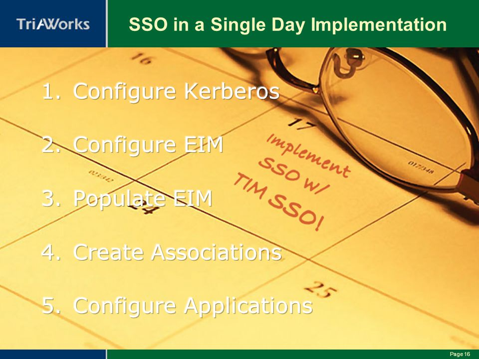 SSO in a Single Day Implementation