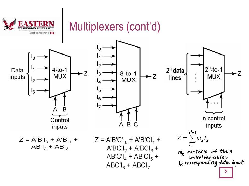 Multiplexers (cont'd)
