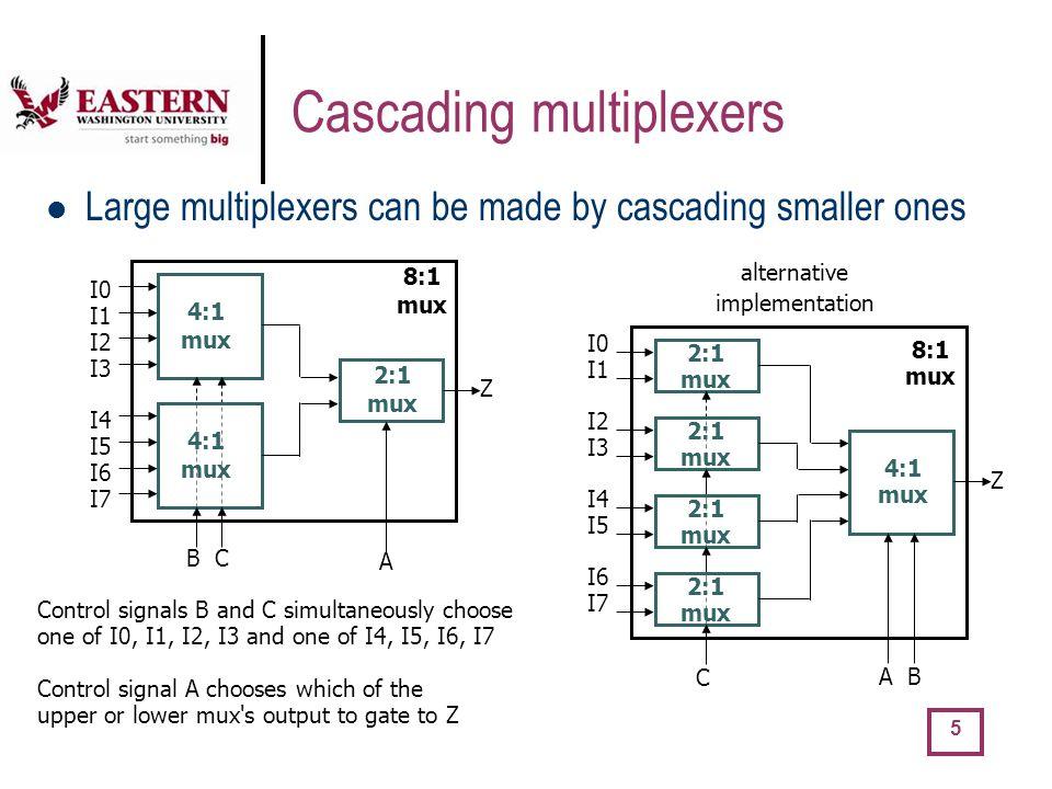 Cascading multiplexers