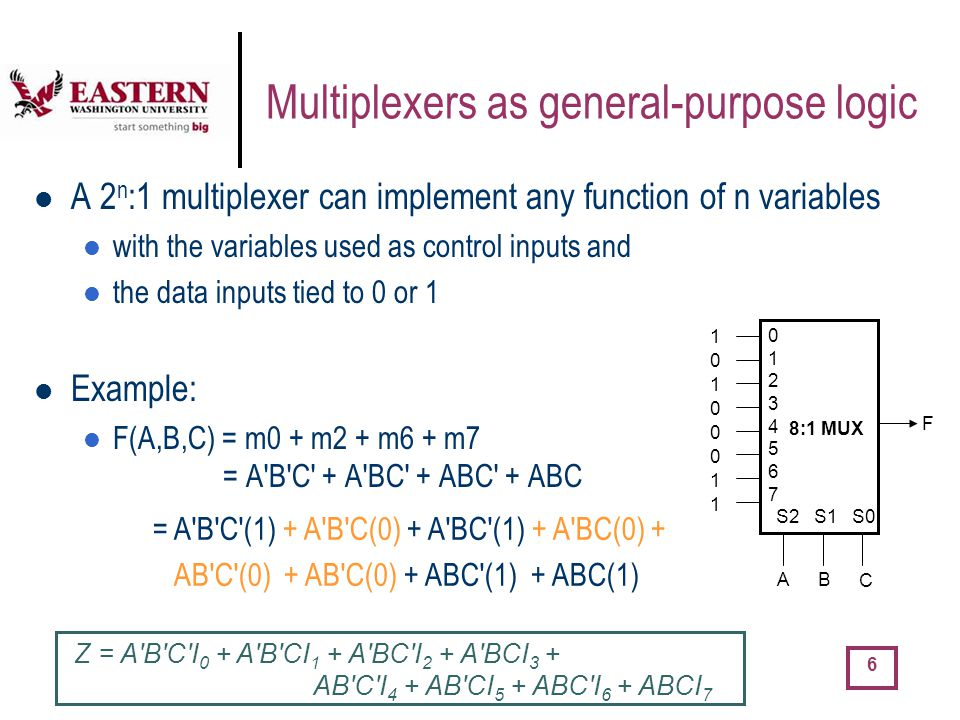 Multiplexers as general-purpose logic