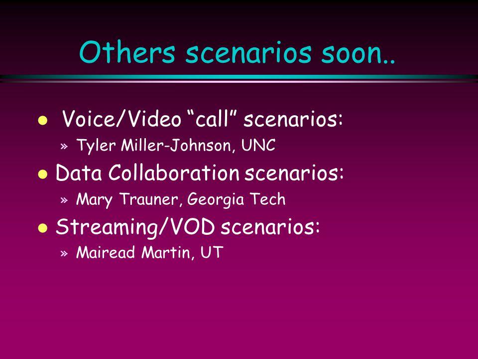 Others scenarios soon.. Voice/Video call scenarios: