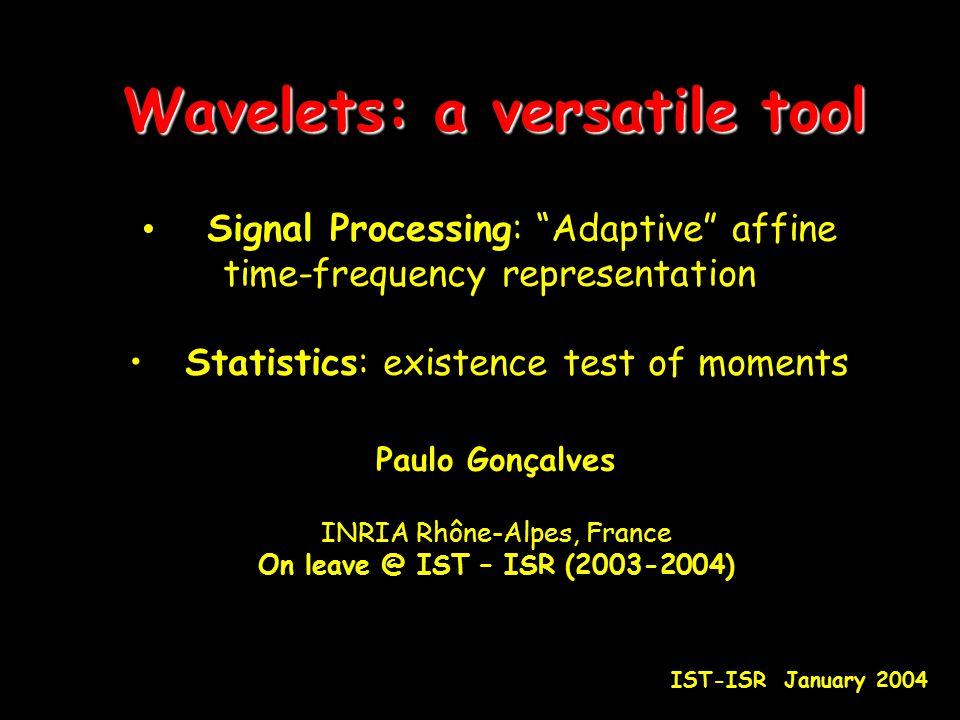 Wavelets: a versatile tool