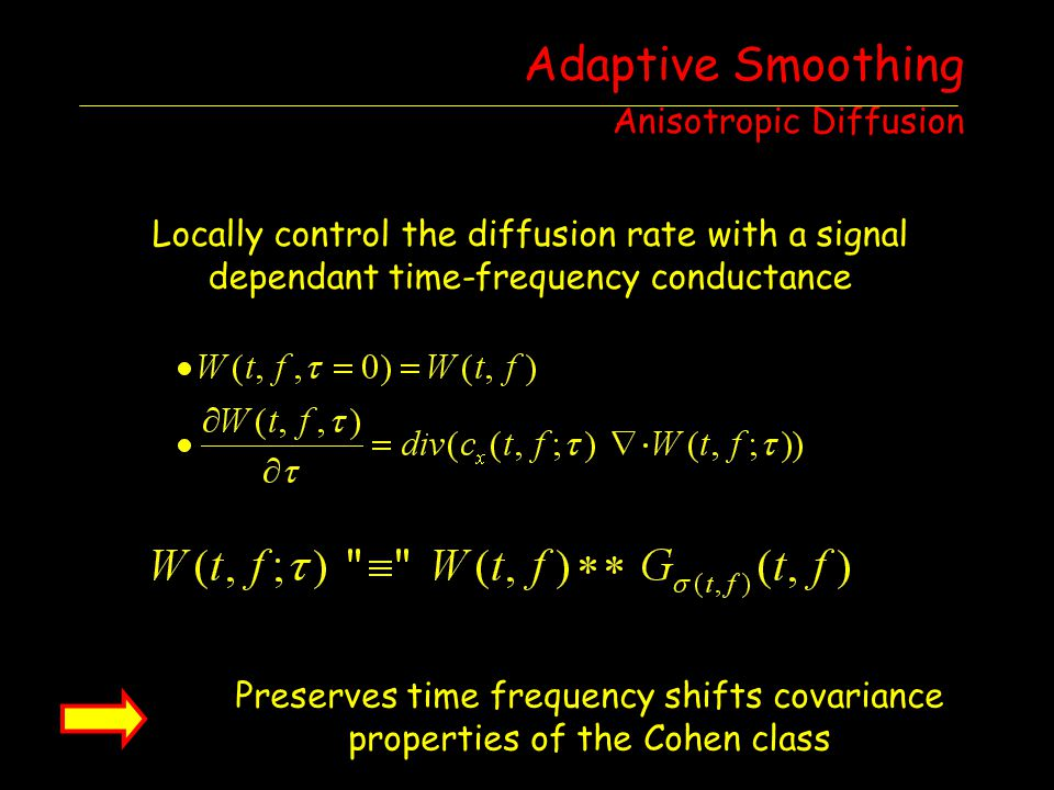 Adaptive Smoothing Anisotropic Diffusion