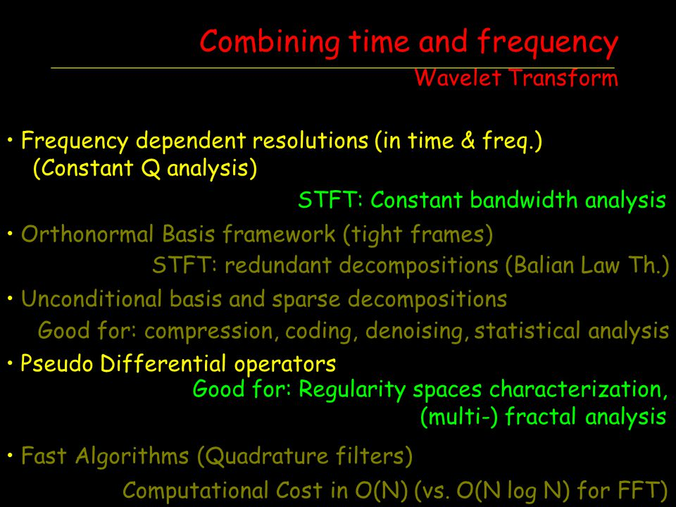 Combining time and frequency Wavelet Transform
