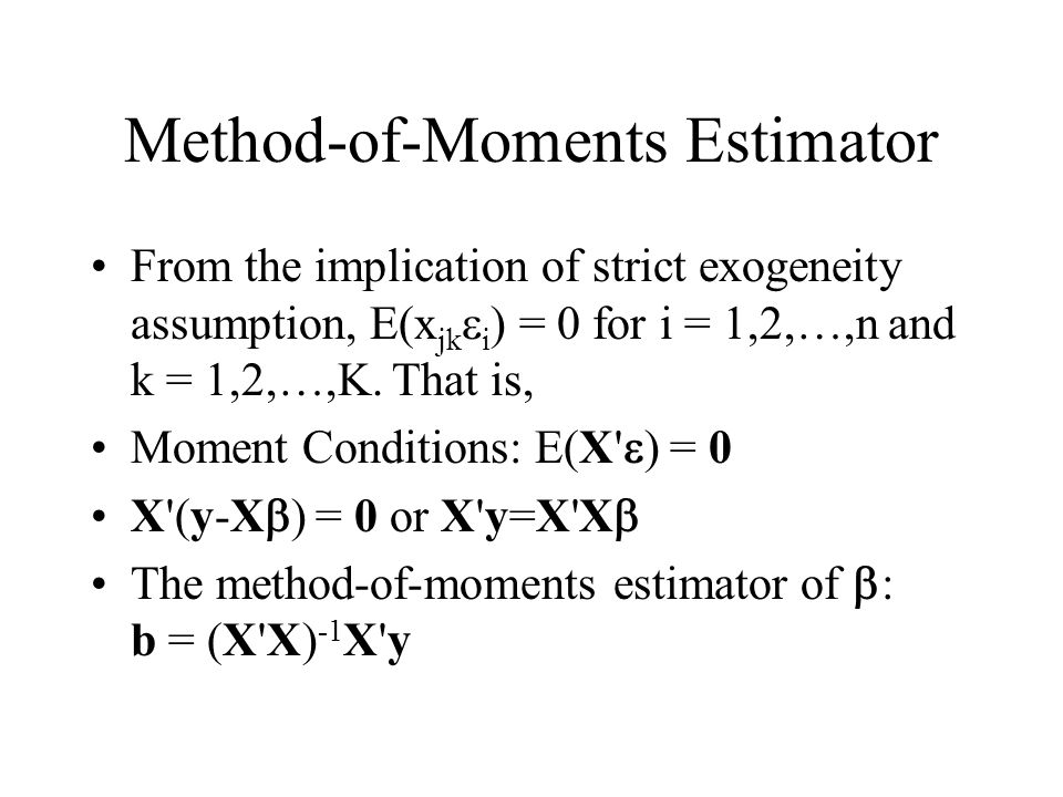 Method-of-Moments Estimator