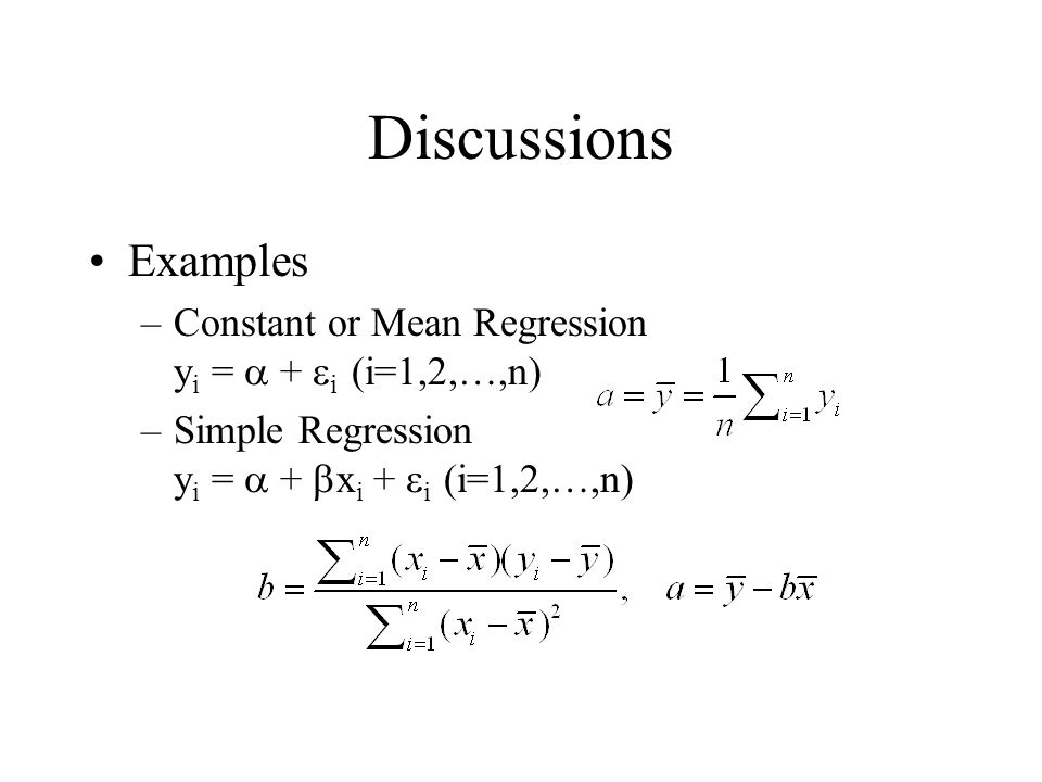 Discussions Examples.