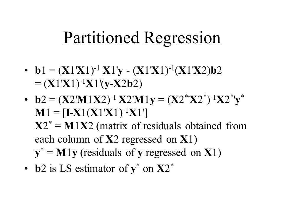 Partitioned Regression