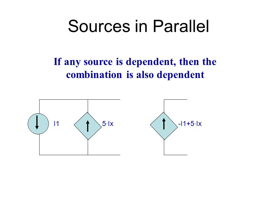 If any source is dependent, then the combination is also dependent